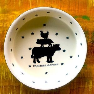 Farmers Market Dish NWT Country Kitchen Rustic